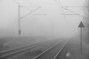 Nebel-Schienen