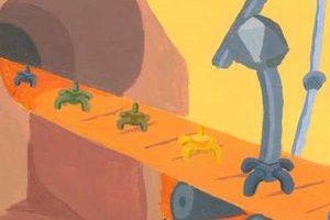 Künstlerische Darstellung der Phagenproduktion