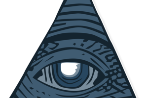 Auge in Pyramide
