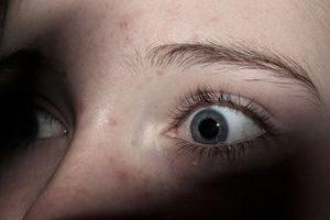 Ängstlicher Blick