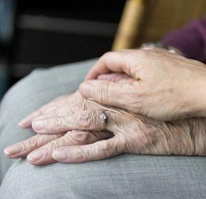 Alte und junge Hand